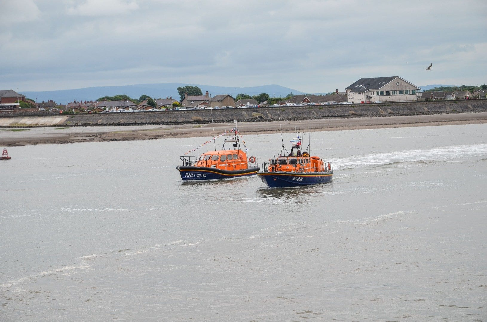 Arrival of new Fleetwood Lifeboat
