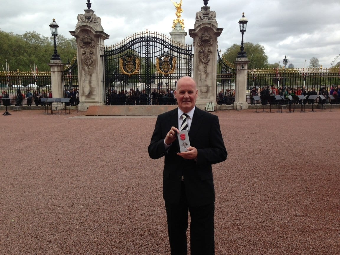 Jim Betmead receiving his MBE
