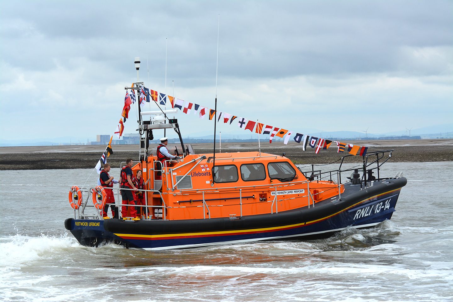 The New Fleetwood Lifeboat, the Kenneth James Pierpoint