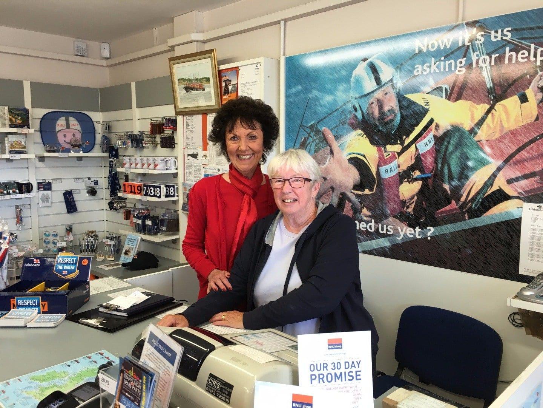 Volunteers in Fleetwood Lifeboat Station shop
