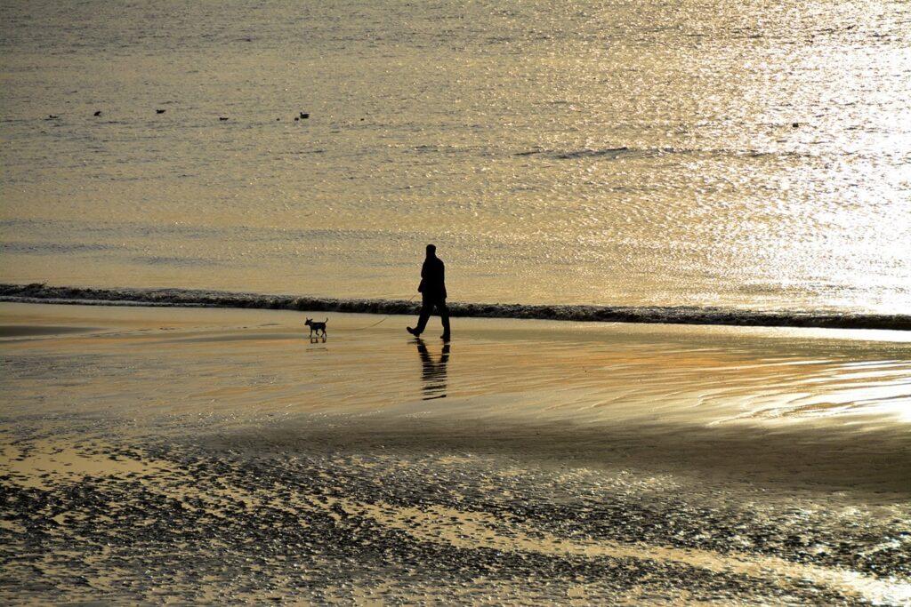 Walking in Fleetwood on the beach