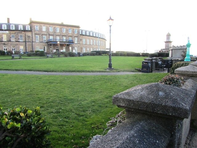 Euston Gardens in Fleetwood before the renovation works.