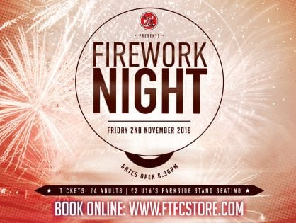 Fireworks at Fleetwood Town