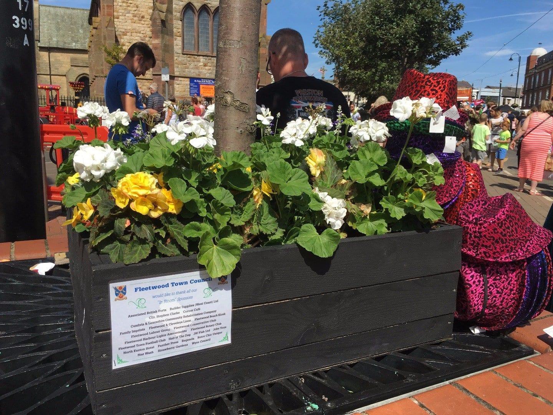 Fleetwood in Bloom brightening up Tram Sunday - Fleetwood Tram Sunday 2017 Photos