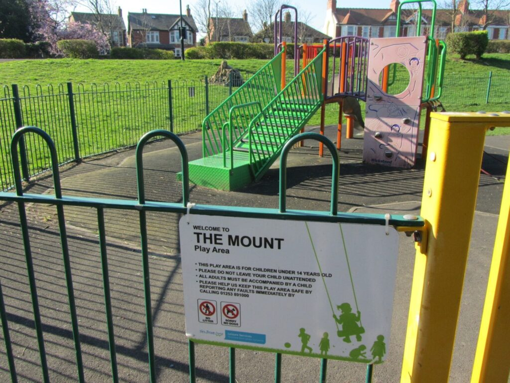 Children's Playground at the landward side of The Mount Gardens, Fleetwood